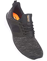 ATHLEISURE Men's Black Synthetic Shoes (203226116) - 9 UK