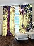 Lemare Vorhang Blickdicht Digitaldruck Wald 2X 145x260 cm