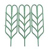 Homeng Supporto per Piante in Vaso a Forma di Foglia plastica Fiore Stand DIY Giardino Traliccio per Piante rampicanti 1SET/3pcs