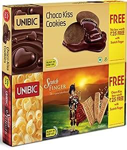 Unibic Scotch Finger, 100g with Free Choco Kiss, 60g.
