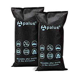 Apalus 1KG Silica Gel Car Dehumidifier, Dry Air, DMF Free, Reusable Moisture Absorber Bag, Automotive Dehumidifier, Keep Windows Fog-Free. Prevents Condensation and Mold, Perfect for Car,1KGx2 Pack