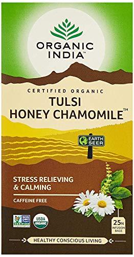 Organic India Green Tea|Organic India Tulsi, Honey Chamomile, 25 Tea Bags