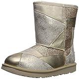 UGG Kinderschuhe Classic Short II Patchwork Boot Gold, Größe:35 EU