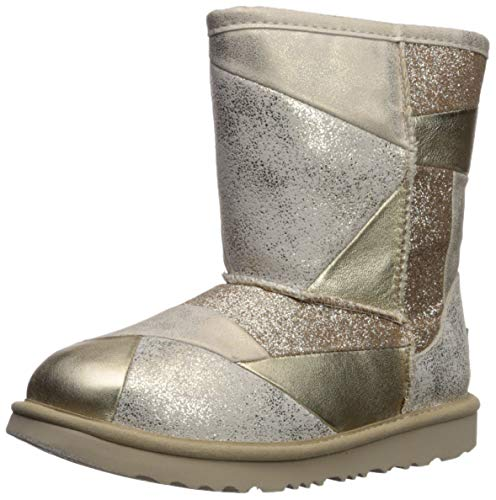 UGG Kinderschuhe Classic Short II Patchwork Boot Gold, Größe:31 EU - Boots Mädchen 13 Größe Ugg