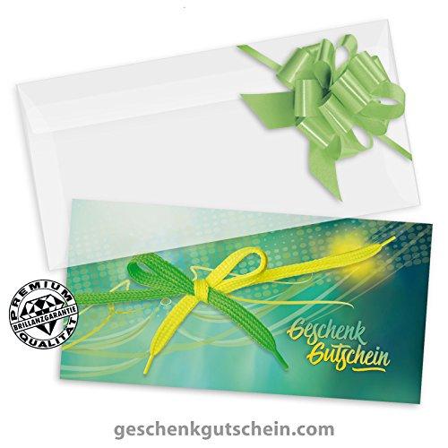 50 Stk. Multicolor-Geschenkgutscheine + 50 Stk. Kuverts + 50 Stk. Schleifen für Schuhe, Schuhfachhandel, Schuhgeschäfte SH231