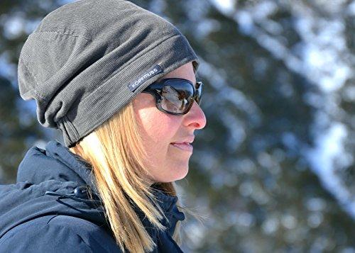 Kopfmuss �?Wintermütze mit Sweatshirtfutter Unisex KoCG1400 in verschiedenen Farben Weidengrün