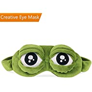 Frog Eye Mask/Sleep Mask, CLKJCAR Luxury Soothing 3D Sleeping Eye Mask with Inner Pocket for Children, Girlfriend, Men, Women, Family and Kids (Care Eyes)