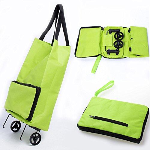 SwirlColor Donne Grande pieghevole Shopping Trolley doppia