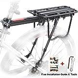 Portapacchi Bici, Bicicletta Posteriore Rack in Alluminio Ciclismo Reggisella Rack Mountain Bike MTB Portapacchi con Riflettore