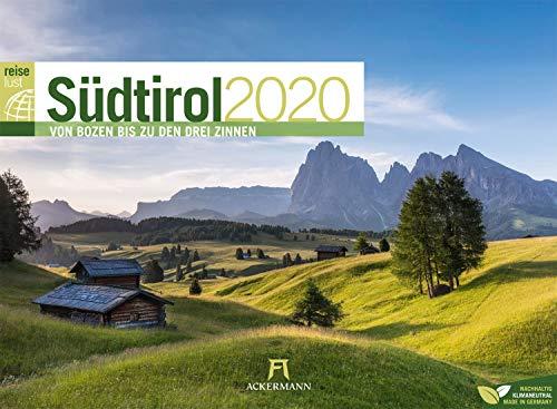 Südtirol ReiseLust 2020, Wandkalender im Querformat (45x33 cm) - Natur- und Reisekalender Italien, Dolomiten mit Monatskalendarium