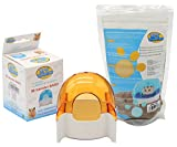 BPS® Bad Käfig für Hamster Gerbille Tier klein mit Sand Badezimmer jerbos Bathing Sand Farbe Lieferung zufällig 8.5* 7* 9.5cm bps-5540* 1