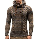 Venmo Herren Herbst Winter Pullover Mantel mit Kapuze Pullover Jacke Outwear männer mäntel Herren Wollmantel Bomberjacke männer Herren Strickjacke mit Kapuze Sweatjacke Kapuzenpullover