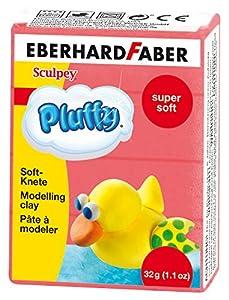 Eberhard Faber 571421 - Arcilla Suave estupendo Pluffy, 32 g, Rojo