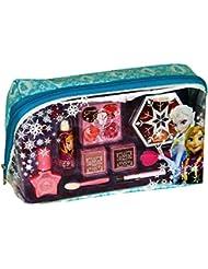 Disney Frozen Kosmetiktäschchen mit Reißverschluss (Schminktasche mit Beauty-Produkten für Augen und Lippen, Accessoires), Geschenk für Mädchen