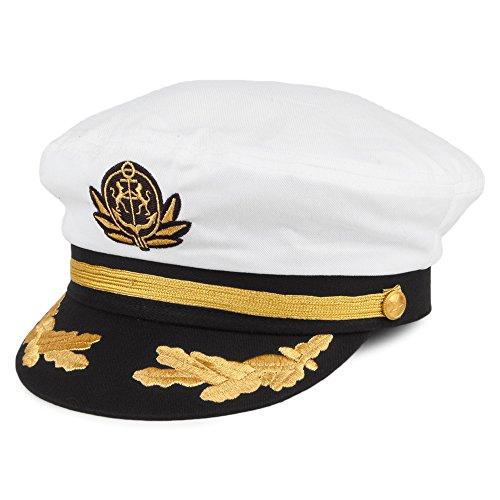 Village Hats Yacht - Casquette Souple - Homme - Blanc - Taille Unique (Taille Fabricant: Adjustable)