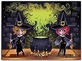 Hexen EinladungskarteKinder Erwachsene Kindergeburtstag Halloween Party Halloweenparty Hexe (10 Stück) gruselig