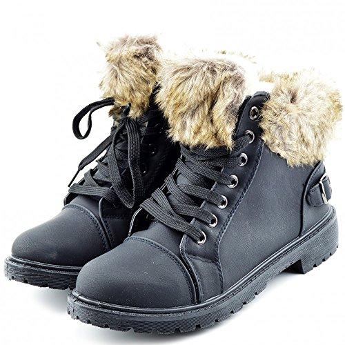 Kick Footwear Combat Boots, Stivali donna Black