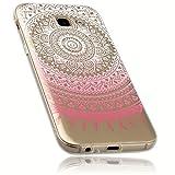 mumbi Schutzhülle für Samsung Galaxy A5 (2017) Hülle im Mandala Design transparent rosa