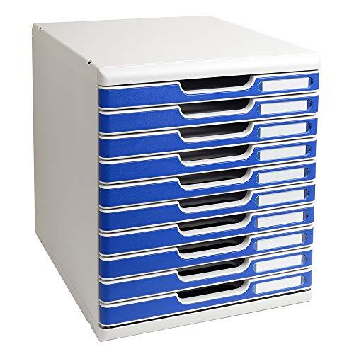 Exacompta - Mueble archivador con 10 cajones