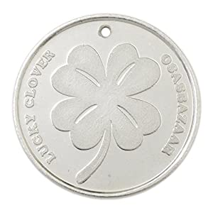 Osasbazaar Silver Lucky Four Leaf Clover Coin – BIS Hallmarked with 99% Purity – 5 Gram
