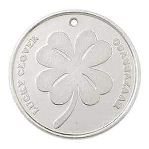Osasbazaar Silver Lucky Four Leaf Clover Coin - BIS Hallmarked with 99.9% Purity - 5 Gram