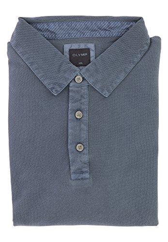 Preisvergleich Produktbild OLYMP Herren Poloshirt aus feinster Zwirnqualität   Modern Fit mit Polokragen & Seitenschlitze   100% Baumwolle Gr. XL Indigo Blau