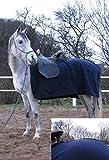 AKTION Fleece Ausreitdecke, Nierendecke blau Größe 135 und 145, Auswahl:135