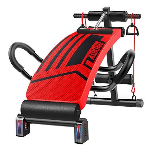 Bancs de musculation JCOCO Absorption des Chocs Rouge Réglable Sit Up Bench Slant Board Pro AB