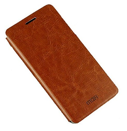 Mofi Vintage Leather with Back Flip Cover Case For Micromax YU Yureka - Brown