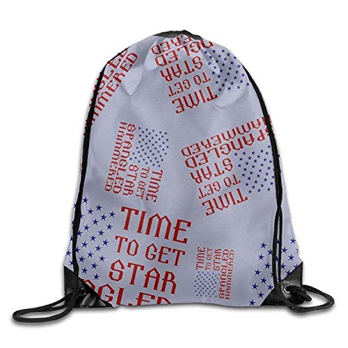 Time to Get Star Spangled Hammered Unisex Lightweight Backpack Sport Drawstring Bags. Star Spangled Girl