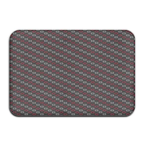 Square Pedestal Sink (Non-Slip Indoor/Outdoor Door Mat Bath Mat,Diagonal Pattern with Geometric Elements Stylized Square Shapes,for Living Room Bedroom Rugs Place Mats)