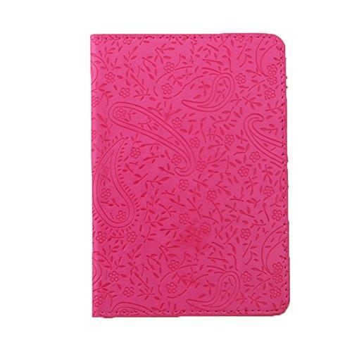 Jiacheng29 - Funda de pasaporte  rosa roja talla única