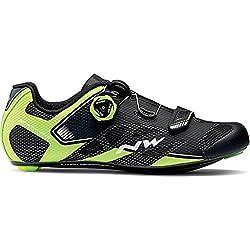 NORTHWAVE Chaussures velo route homme SONIC 2 PLUS noir/jaune fluorescent/blanc