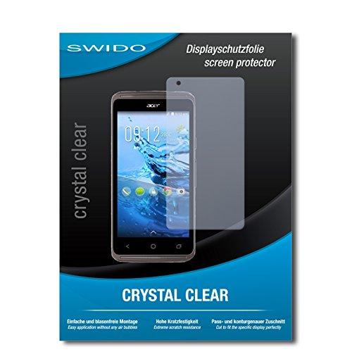 SWIDO Bildschirmschutz für Acer Liquid Z410 Plus [4 Stück] Kristall-Klar, Hoher Härtegrad, Schutz vor Öl, Staub & Kratzer/Schutzfolie, Bildschirmschutzfolie, Panzerglas Folie