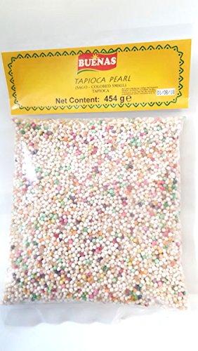 Buenas Tapioka Perlen Sago- Coloured Small Tapioca Pearl 454g