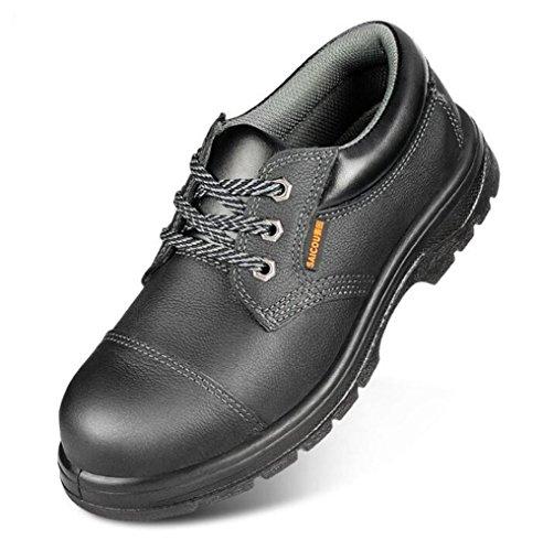 Männerschuhe Stahlsohle Leder Stahlkappe Arbeit Sicherheit Größe 38 bis 44 , EU41 -