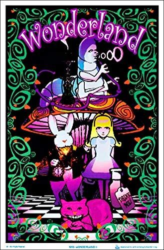 (24x 36) Alice in Wonderland (Gruppe) Blacklight Poster Print