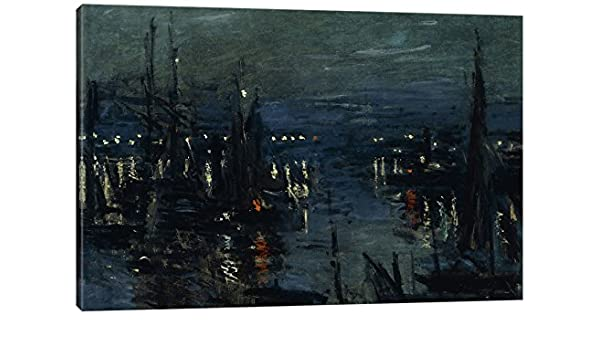 iCanvasART The Port of Le Havre Night Effect 1873 Print 26 x 18