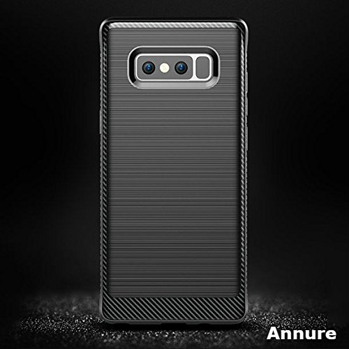 Annure Samsung Galaxy Note 8 Back Cover Case – [Premium Quality] Luxury Armor Shock Proof Soft TPU Back Case for Samsung Galaxy Note 8 (Black)