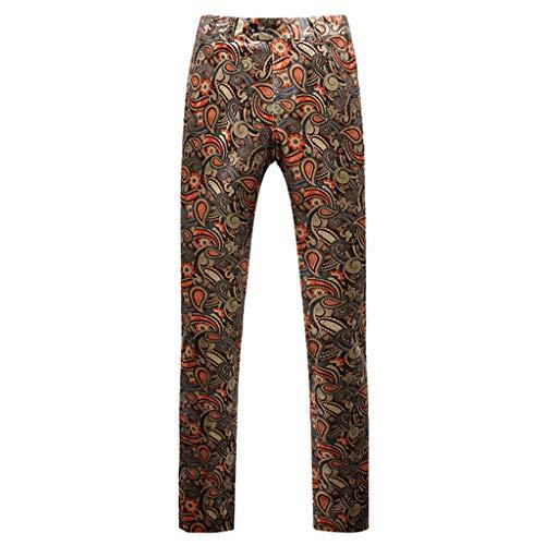 Dwevkeful Anzughose Herrenhose Drucken Hochzeit Party Trousers Business Pants Hosen MäNner Straight Mit Bequemen Regular Fit
