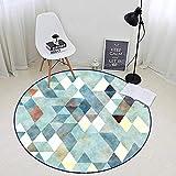 KIMSAI Runder Garderoben-Teppich-Wohnzimmer-Schlafzimmer-Einfacher Moderner Computer-Stuhl-Hängende Korb-Matte 120 * 120Cm,B