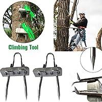 Juego de picos de escalada de árbol romaryrose, herramienta de escalada de árboles, para caza, observación, recoger frutas, acero inoxidable 304, fácil de usar