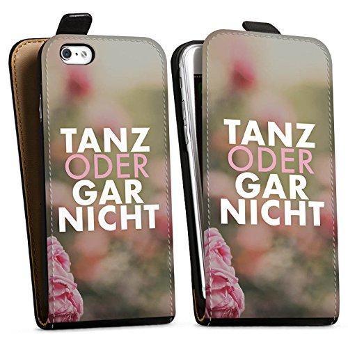 Apple iPhone X Silikon Hülle Case Schutzhülle Tanz Spruch Statement Downflip Tasche schwarz