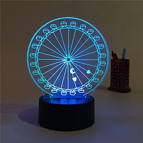 3D Fotos Licht 3D Optical Illusion Nacht Licht 7 Farben-Changing Schreibtisch Lampe Tisch Lampe mit intelligent, Touch Seven Color