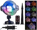 Lunartec Projektionslampe: LED-Kugellampe mit Schneefall-Effekt und Timer, weiß + RGB, IP44 (Weihnachten Beleuchtung)