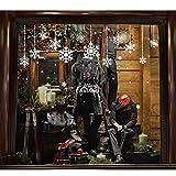 ODJOY-FAN Weihnachten Entfernbar Fenster Aufkleber Restaurant Einkaufszentrum Dekoration Schnee Glas Wandtattoos Festival Fenster Glas Dekor (60 x 90 cm)(C,1 PC)