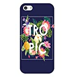 Coque iphone 5 5S Se Tropical Bleu Ananas Summer Exotique Beach