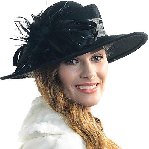 FORBUSITE - Chapeau melon - Femme taille unique Noir