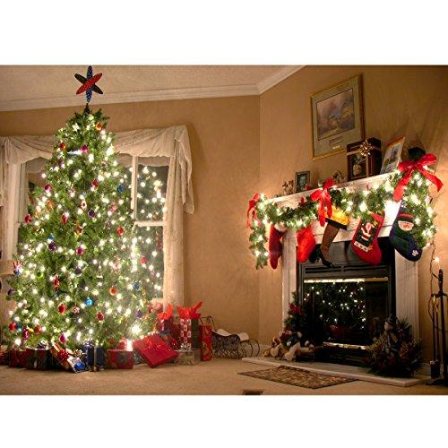 Werse 7x5FT Weihnachtsbaum Strumpf Baby Foto Kulissen Fotografie Hintergrund Studio Requisiten