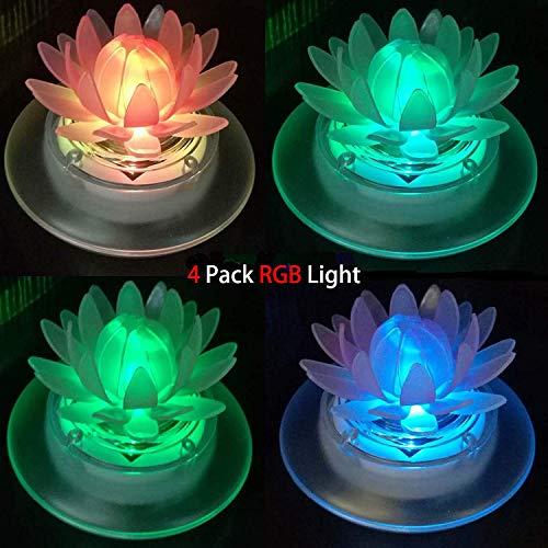 Schwimmende Solar-Lichter für Gartenteich oder Pool, LED, wasserdicht, Garten-Dekoration, plastik, 4Pcs Louts 1.20volts